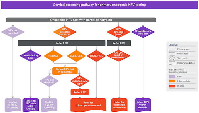 the national cervical screening program australian clinical labs